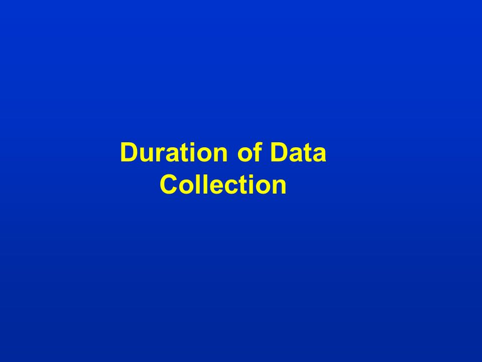 Duration of Data Collection