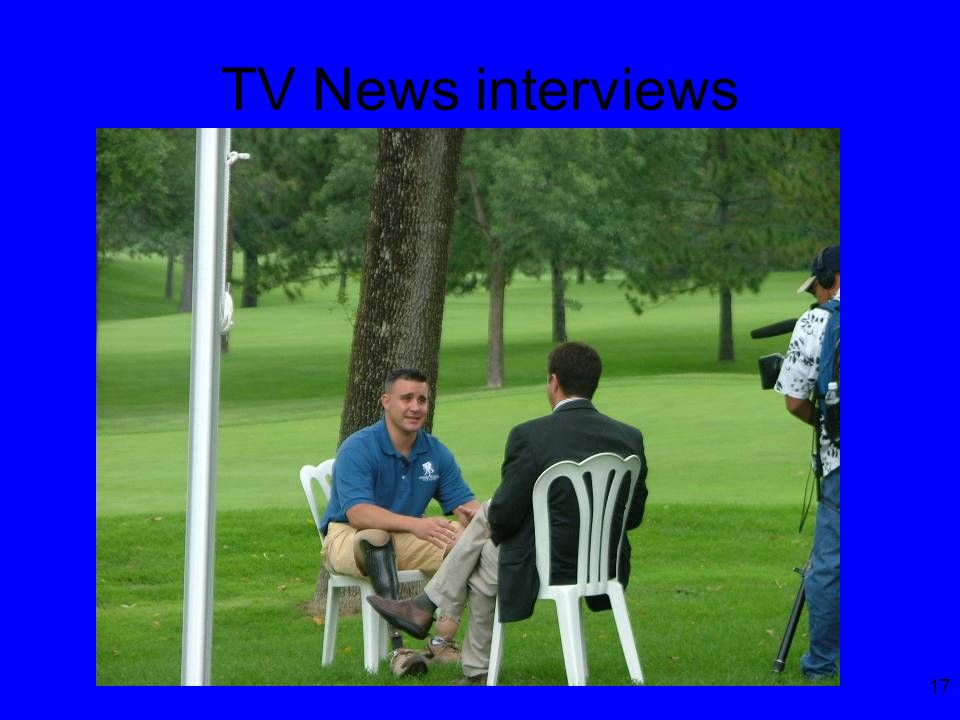 17 TV News interviews
