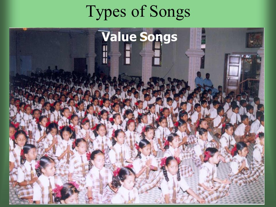 Types of Songs Value Songs