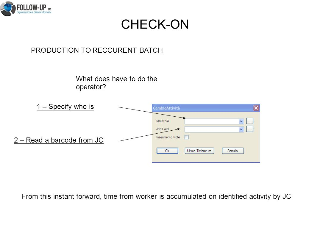 PRODUCTION TO RECCURENT BATCH What does have to do the operator.