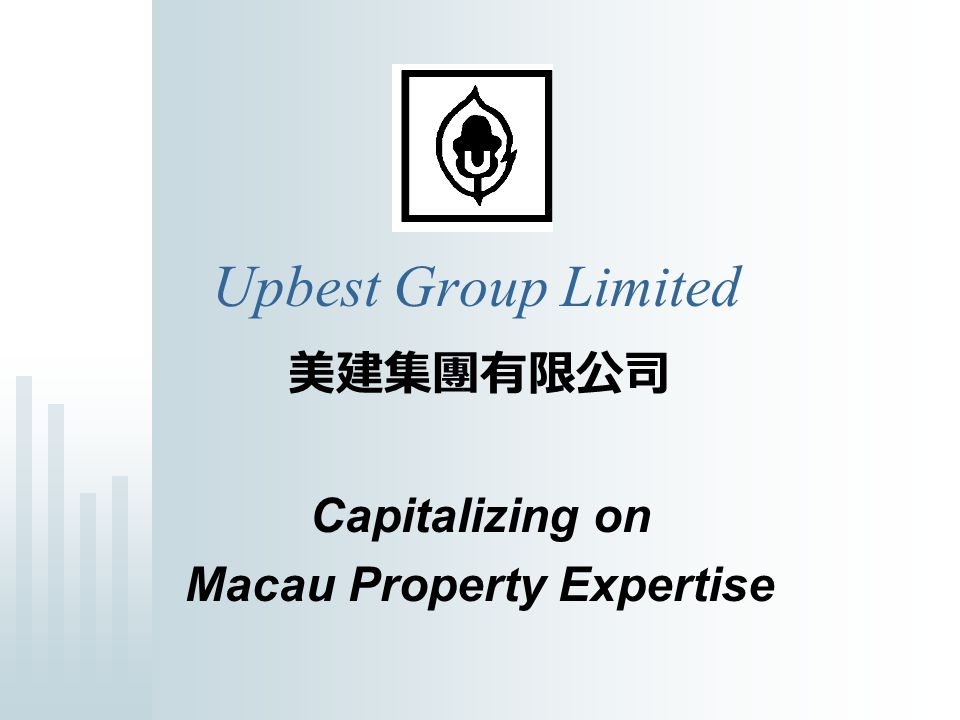 Future Direction Bullish property market in Macau -> further investment opportunities for short term and medium term profit Further opportunities for medium term (18-36 months) development opportunities Macau is a hot market for investors and the company is pursuing JV opportunities with investors for development and investment opportunities Organic growth of financial services business Opportunistic approach re.