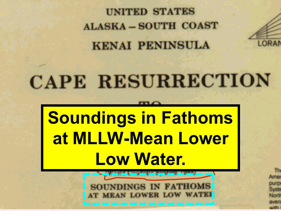 Soundings in Fathoms at MLLW-Mean Lower Low Water.