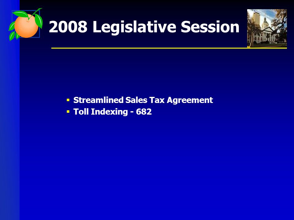 Streamlined Sales Tax Agreement Toll Indexing - 682