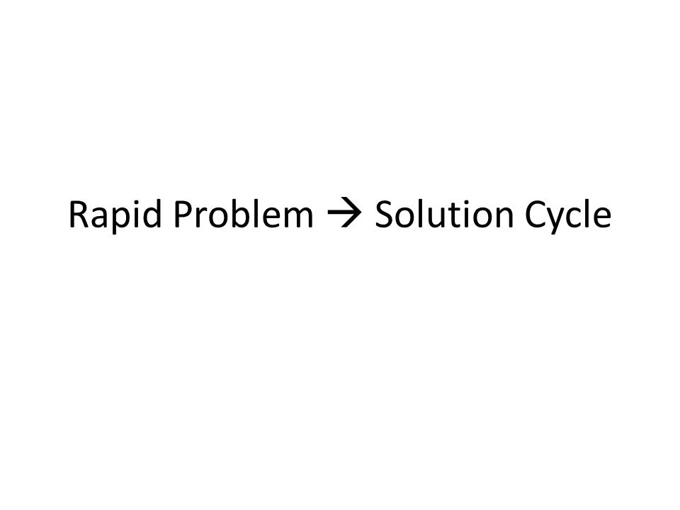 Rapid Problem Solution Cycle