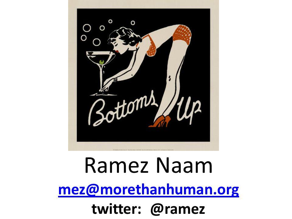 Ramez Naam mez@morethanhuman.org twitter: @ramez