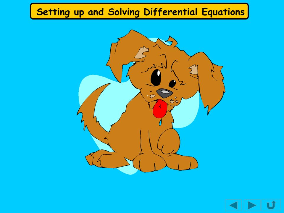 Setting up and Solving Differential Equations