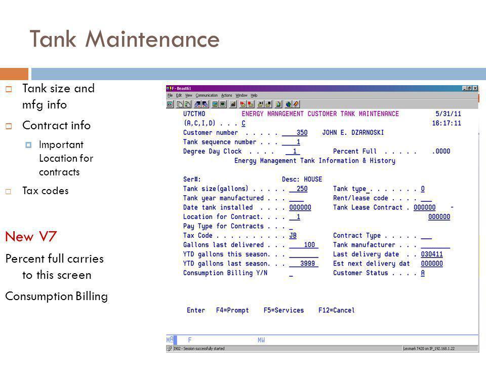 Tank Maintenance Appliances compute non degree day use.