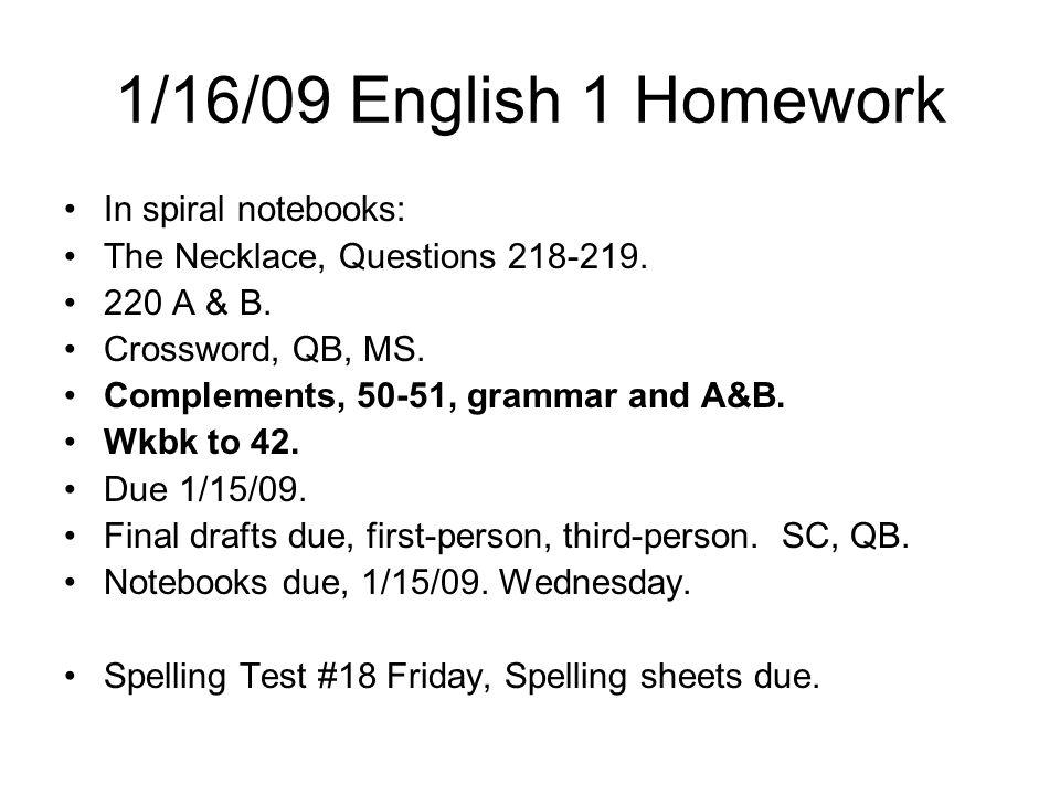 1/21/09 Homework Eng 1 1.How I spend my money. 100 words.