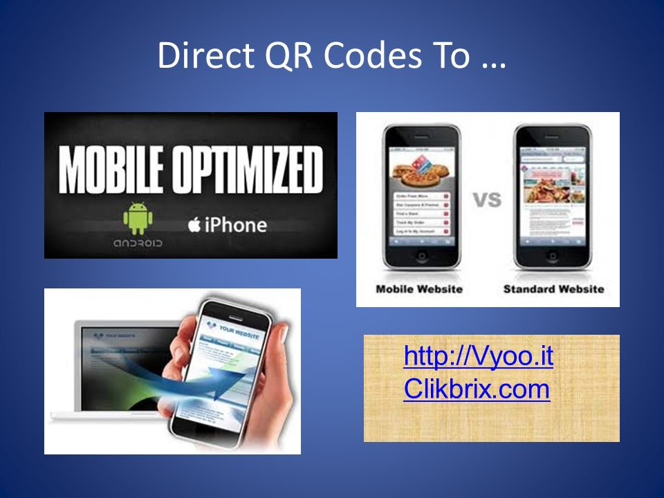 Direct QR Codes To … http://Vyoo.it Clikbrix.com