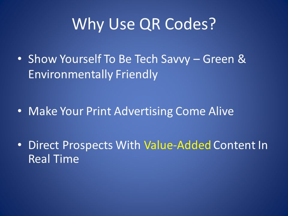Why Use QR Codes.
