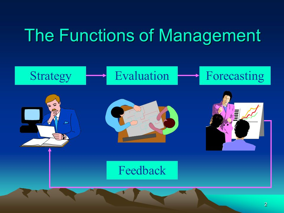 2 StrategyEvaluation Feedback Forecasting The Functions of Management