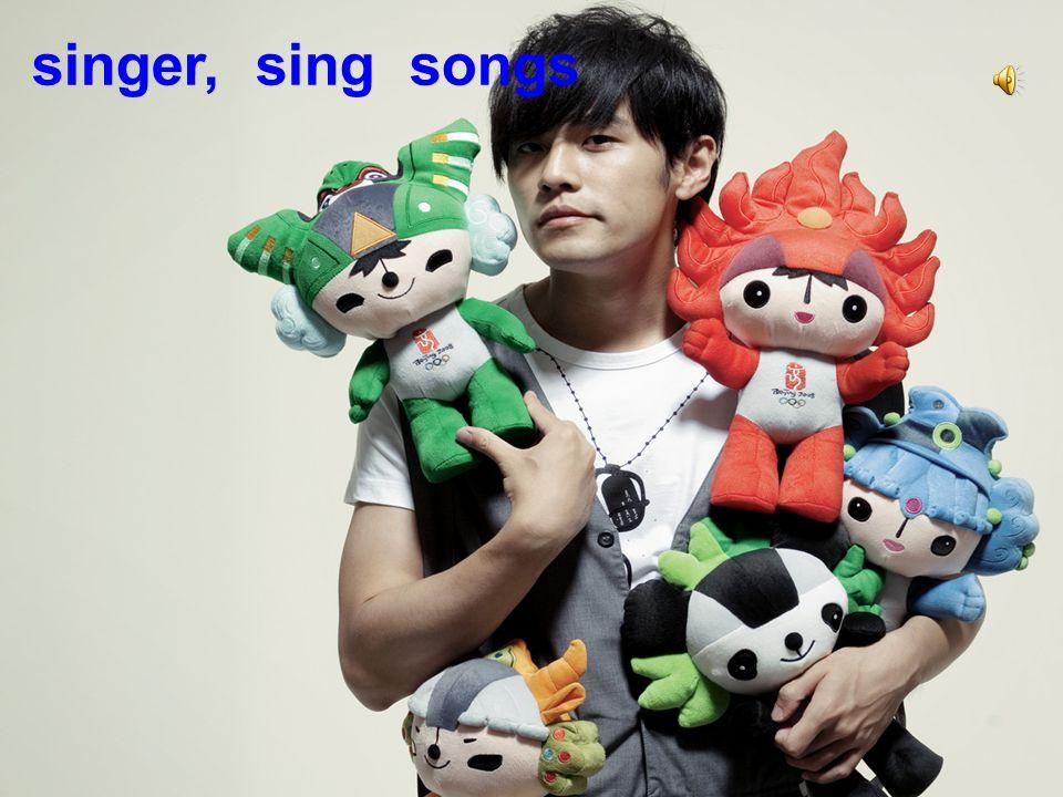 singer, sing songs