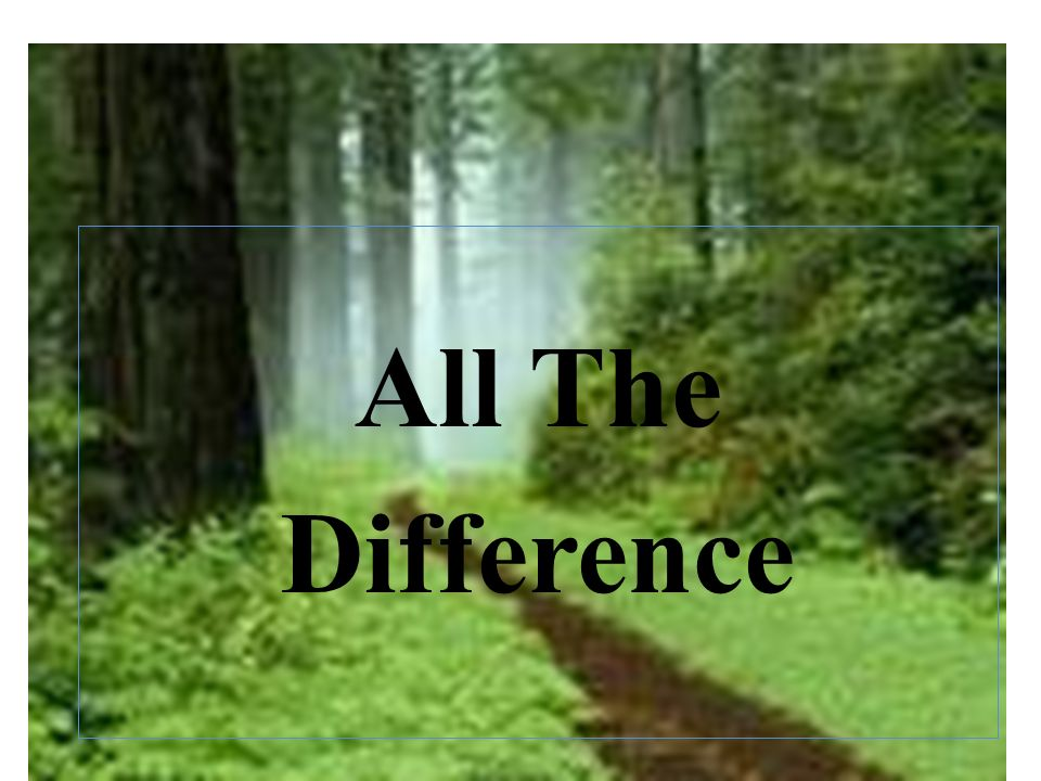 All The Difference