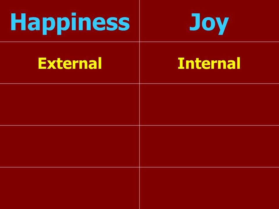 HappinessJoy ExternalInternal
