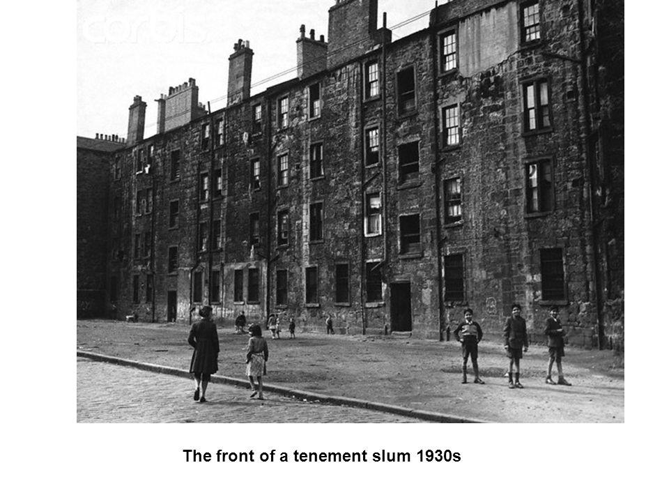 The front of a tenement slum 1930s