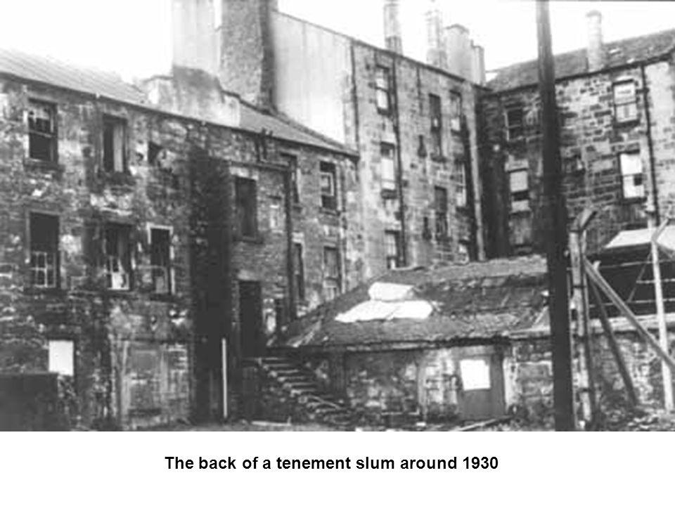 The back of a tenement slum around 1930
