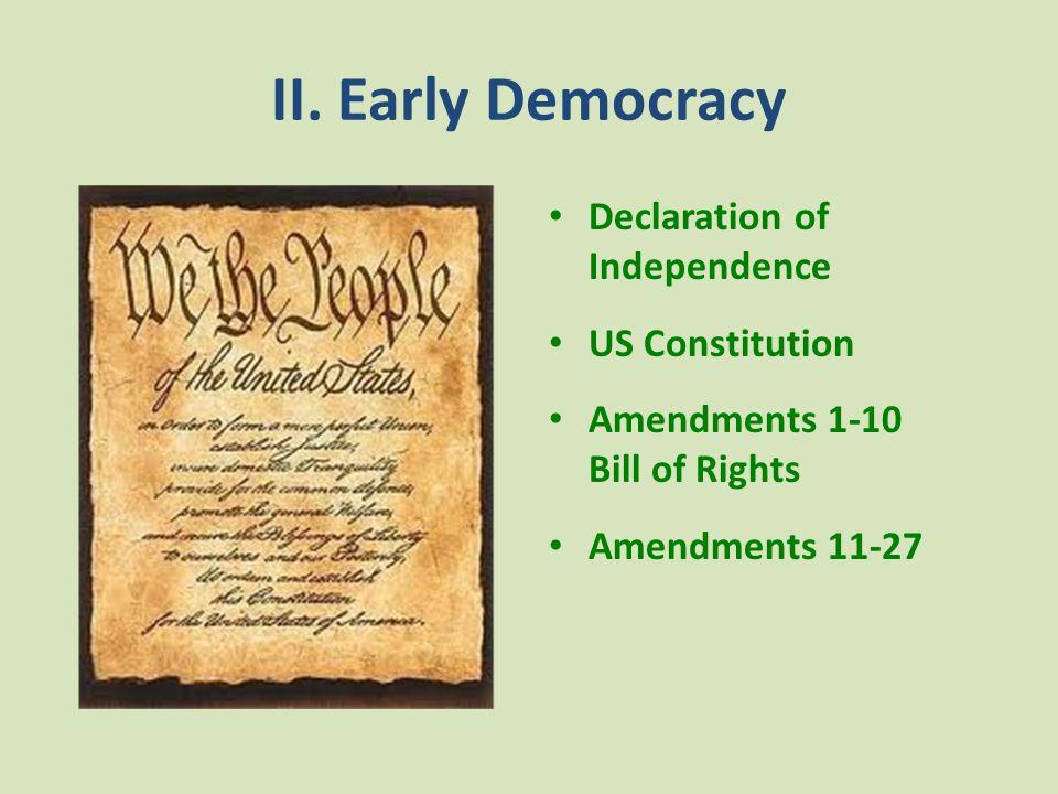 II. Early Democracy: Manifest Destiny