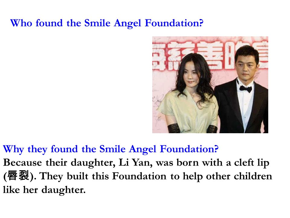 Who found the Smile Angel Foundation. Why they found the Smile Angel Foundation.