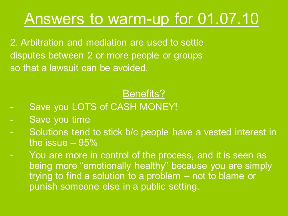 Answers to warm-up for 01.07.10 2.
