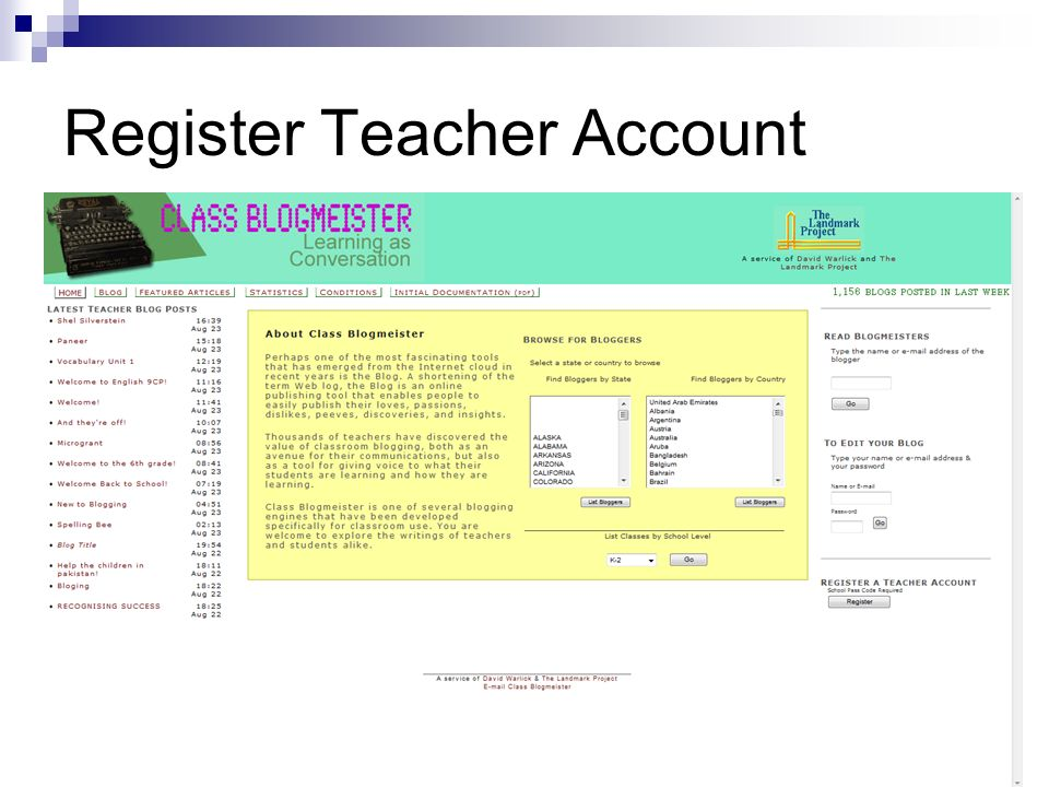 Register Teacher Account
