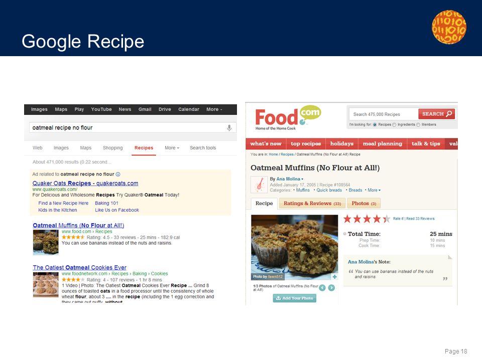 Page 18 Google Recipe
