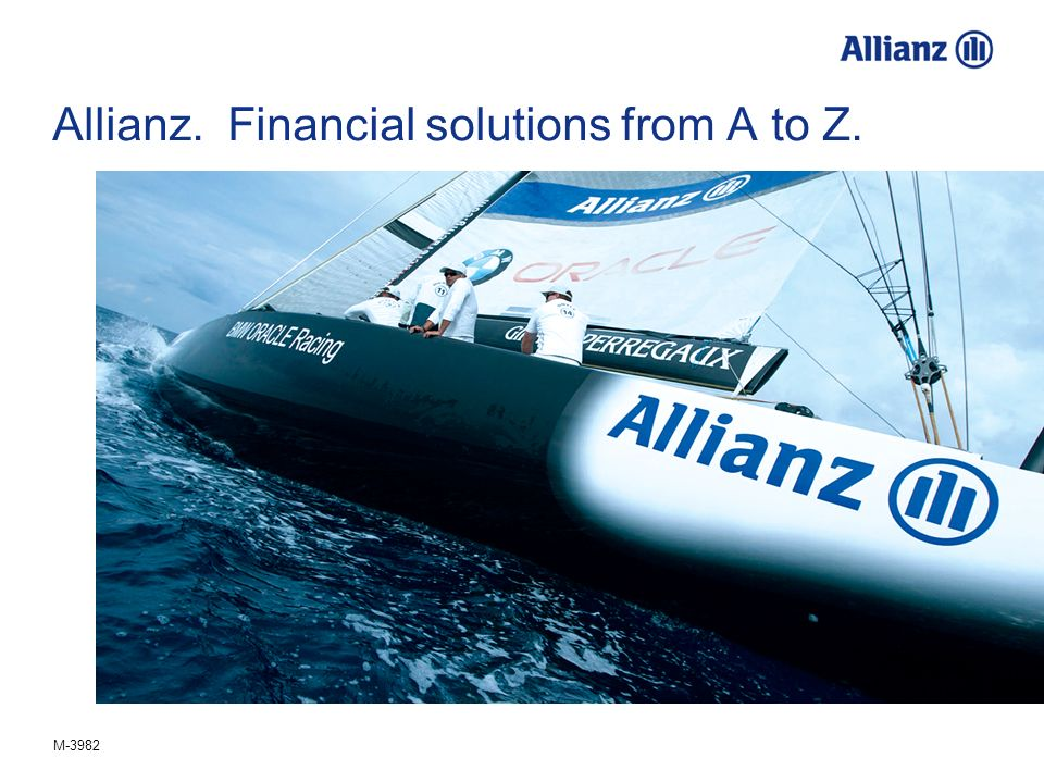 M-3982 Allianz. Financial solutions from A to Z.