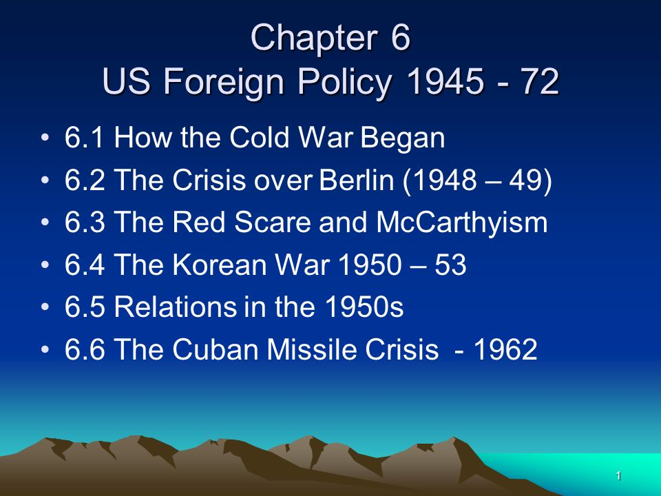 22 6.3 The Red Scare and McCarthyism Anti – communist feeling had been strong in the US before the second world war.