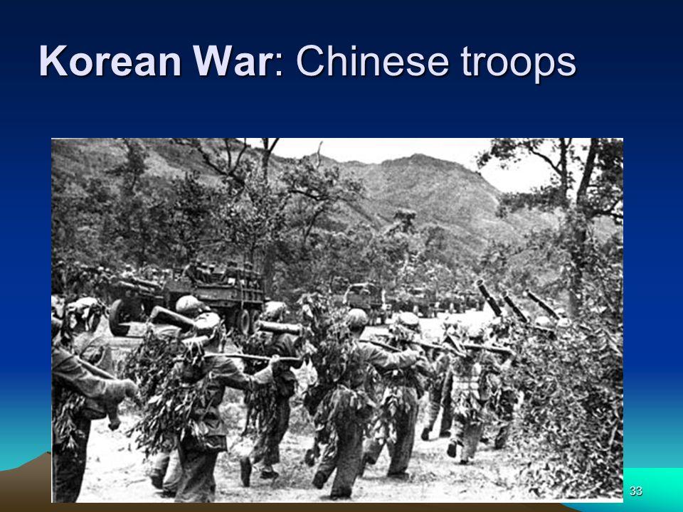 K. Mc Taggart33 Korean War: Chinese troops