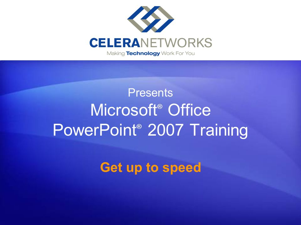 Get up to speed in PowerPoint 2007 Tailor the theme Heres how to tweak the theme.