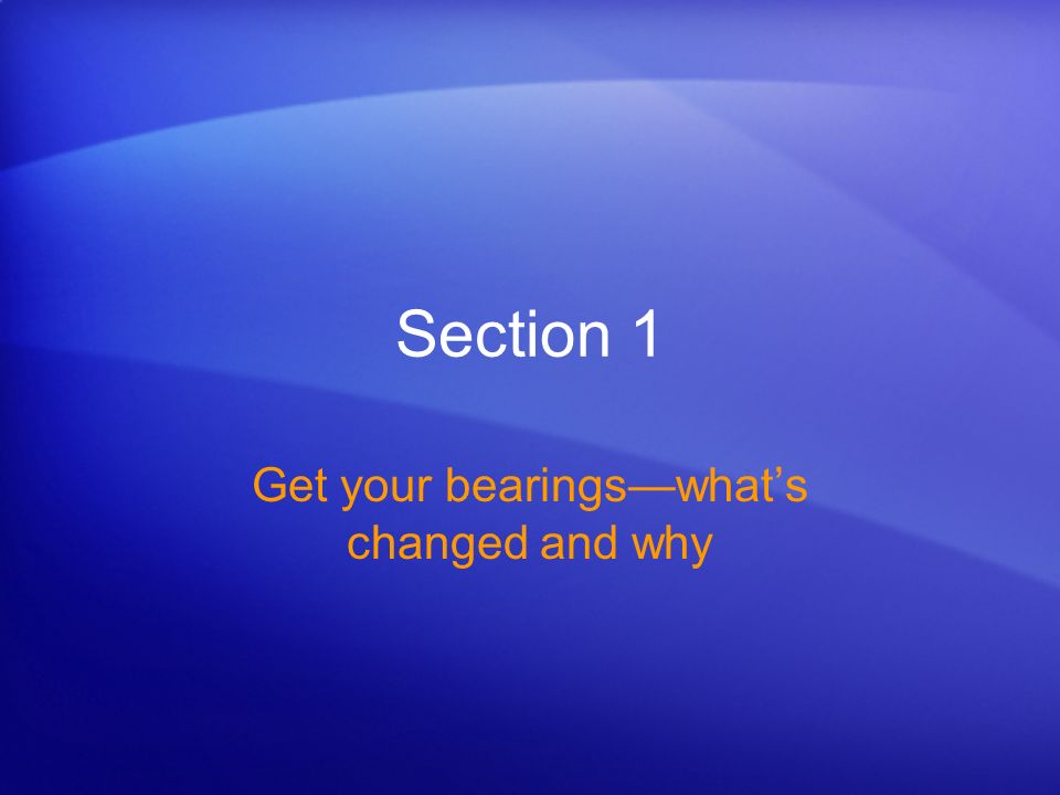 Get up to speed in PowerPoint 2007 Get your bearingswhats changed and why The most noticeable change in PowerPoint 2007 is at the top of the window.