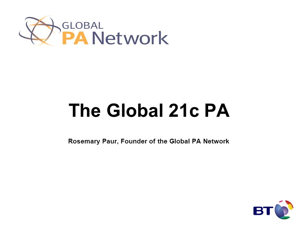 The Global 21c PA Rosemary Paur, Founder of the Global PA Network