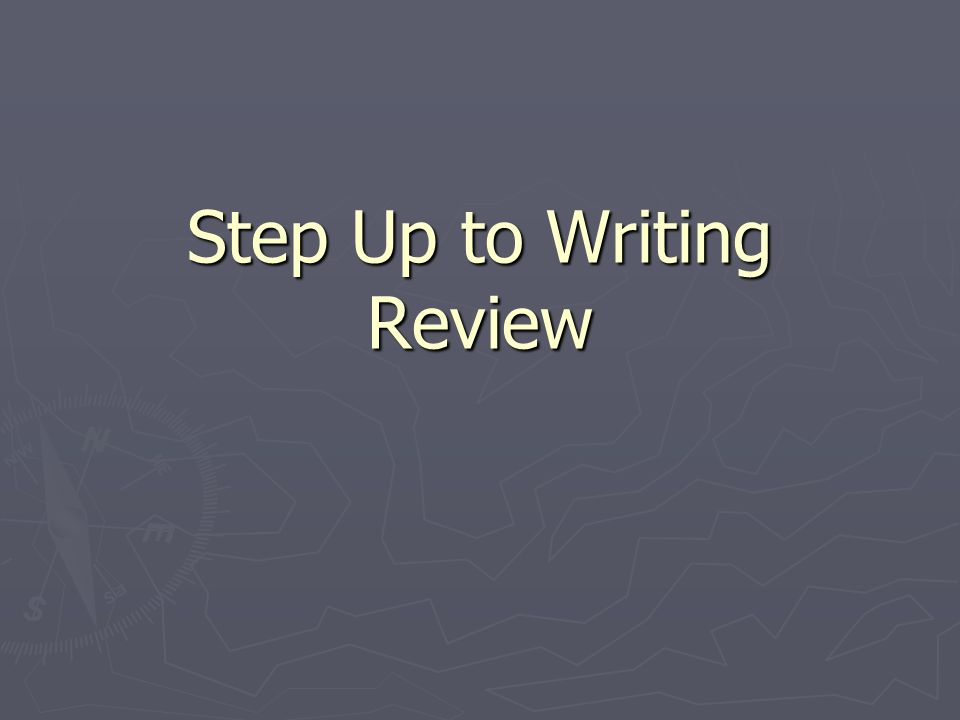Step Up to Writing Review