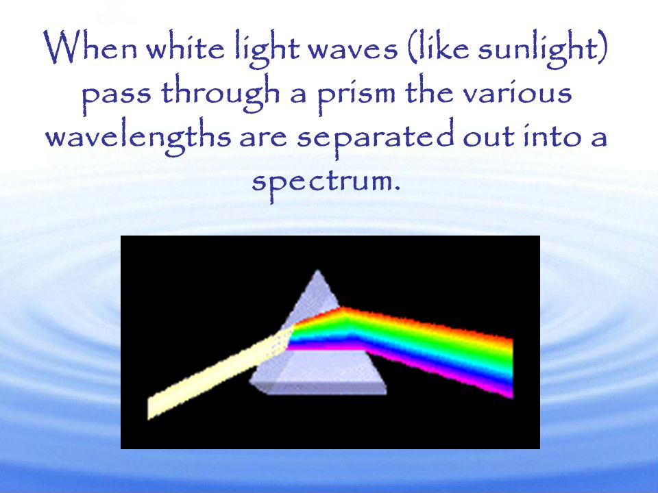 Light waves are transverse. Changes in wavelength (and thus frequency) cause light to appear in different colors.