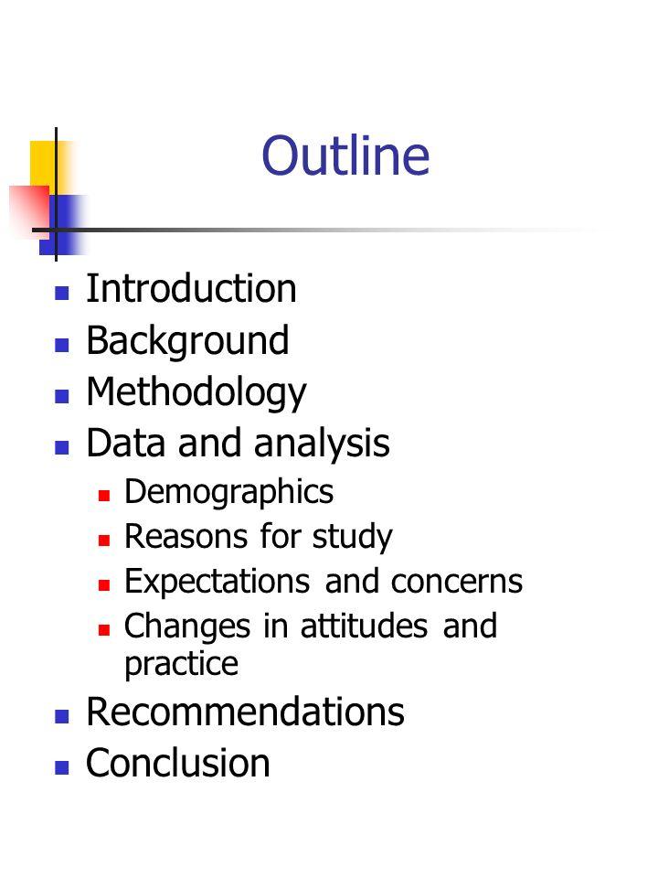 Methodology Questionnaires _____________________________________________________ Sample size 95% confidence range _____________________________________________________ 100+/- 10% 250+/- 6% 1000+/- 3% _____________________________________________________ Procedure 1.