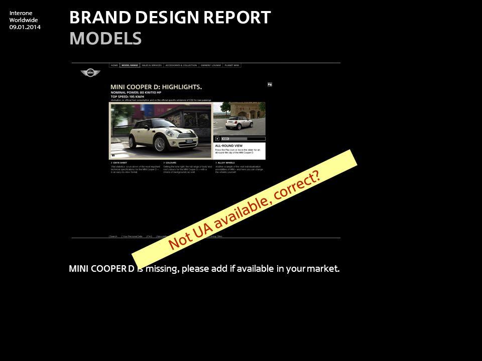 Interone Worldwide 09.01.2014 Model Comparison: MINI Cooper S is still the old one.