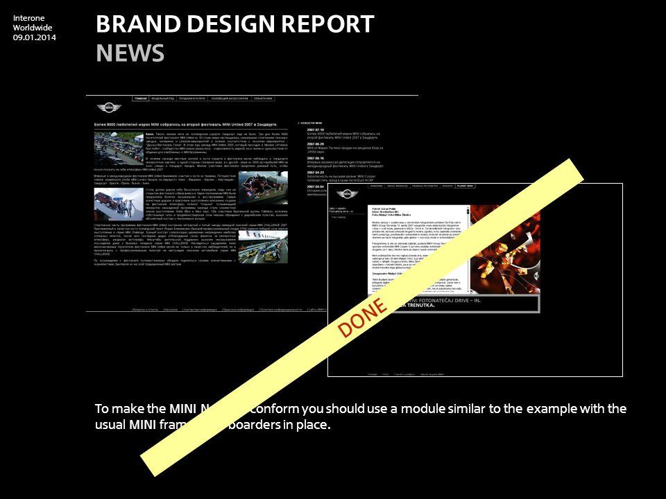 Interone Worldwide 09.01.2014 Please update MINI Concept.