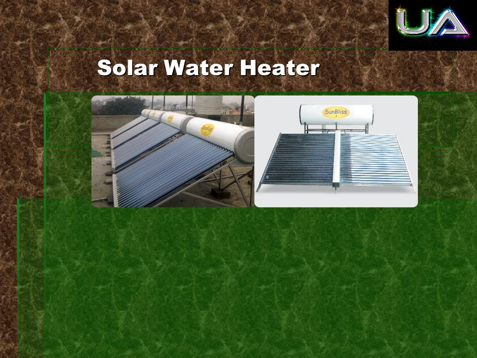 Solar water heater is a device provide hot water for bathing, washing, cleaning etc using solar energy.