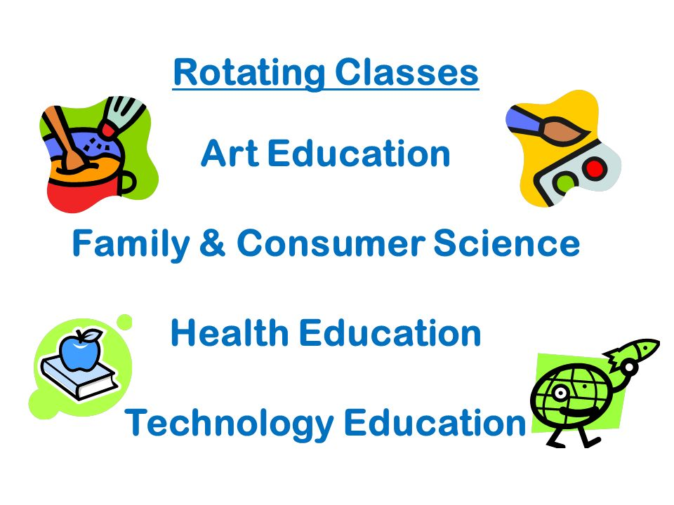 Rotating Classes Art Education Family & Consumer Science Health Education Technology Education