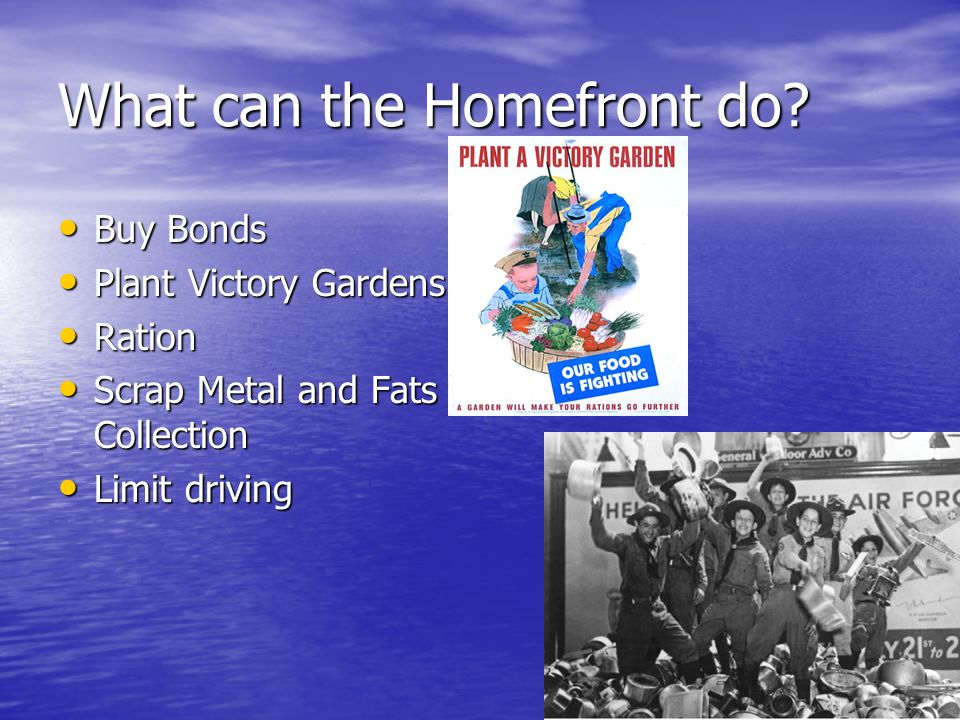 What can the Homefront do.