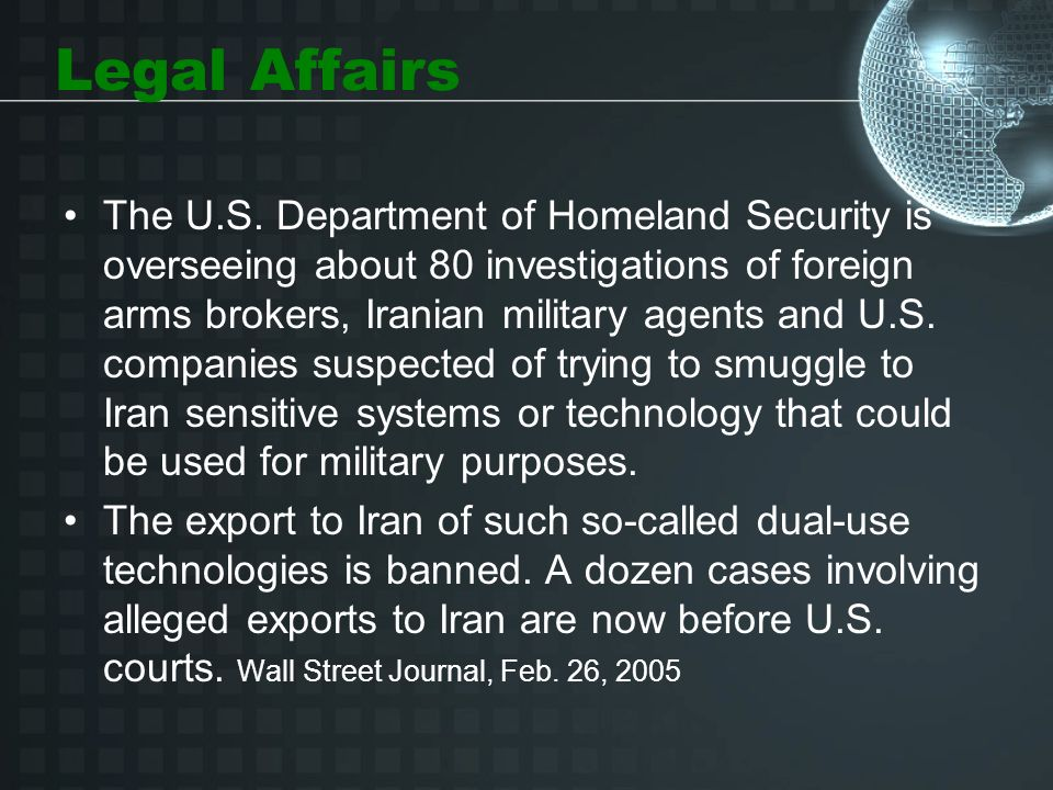 Legal Affairs The U.S.