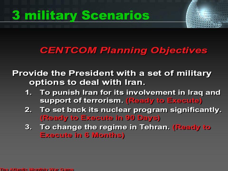 3 military Scenarios