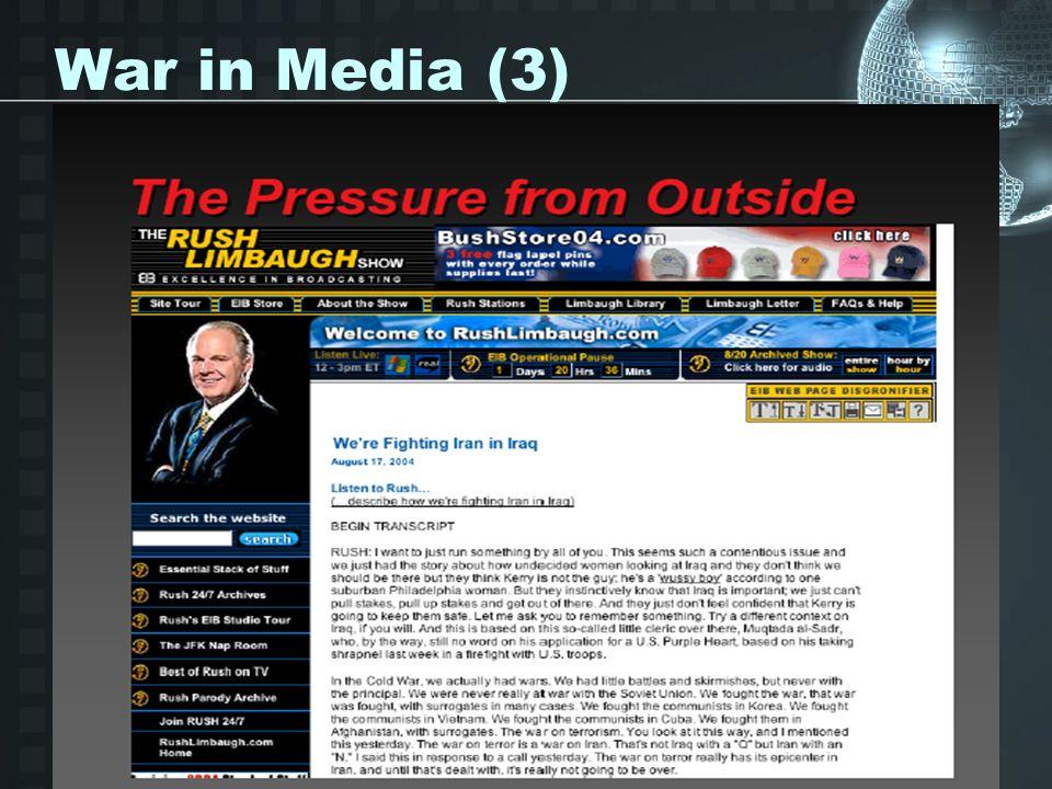 War in Media (3)