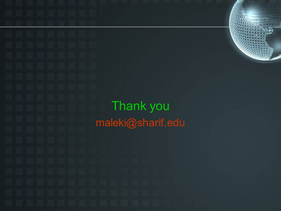 Thank you maleki@sharif.edu