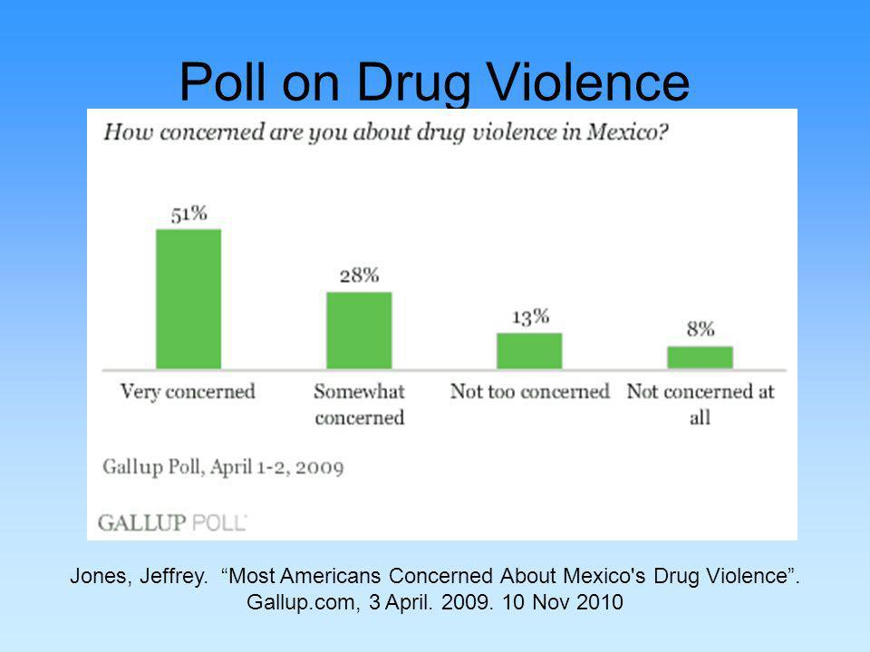 Poll on Drug Violence Jones, Jeffrey. Most Americans Concerned About Mexico s Drug Violence.