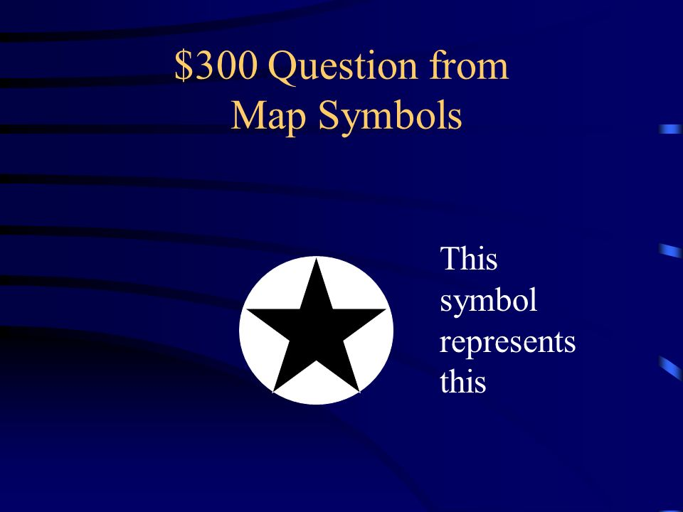 $200 Answer from Map Symbols What is a city?
