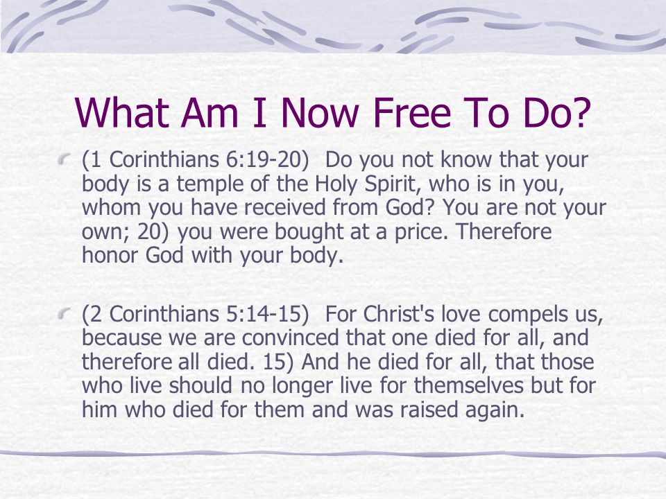 What Am I Now Free To Do? Read Luke 19:1-10