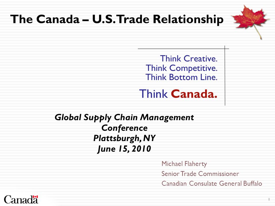 Supply Chain Integration Supports a Huge Trade in Energy Largest supplier of energy, 92% of Canadian energy exports go to U.S.
