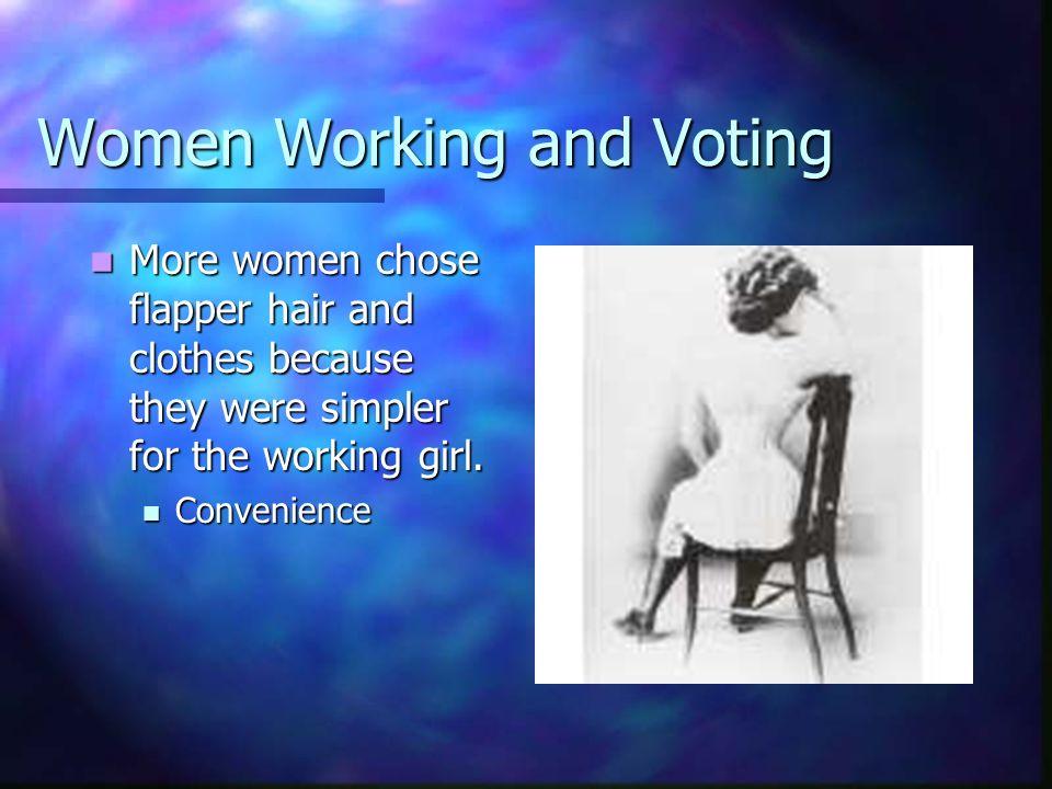 Women working in the 1920s 15% of women were professionals 15% of women were professionals 20% had clerical jobs 20% had clerical jobs By 1930 29% of the workforce was women.