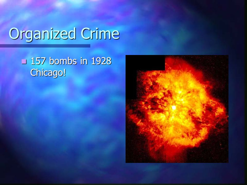 Organized Crime 157 bombs in 1928 Chicago! 157 bombs in 1928 Chicago!