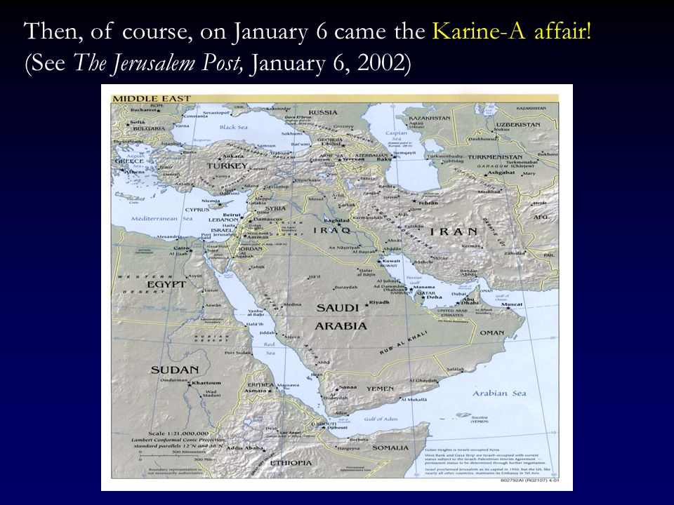 Similarly, in an interview with Ariel Sharon, The Times of London (2/5/2002) wrote that according to Sharon: Iran is the center of world terror, and a